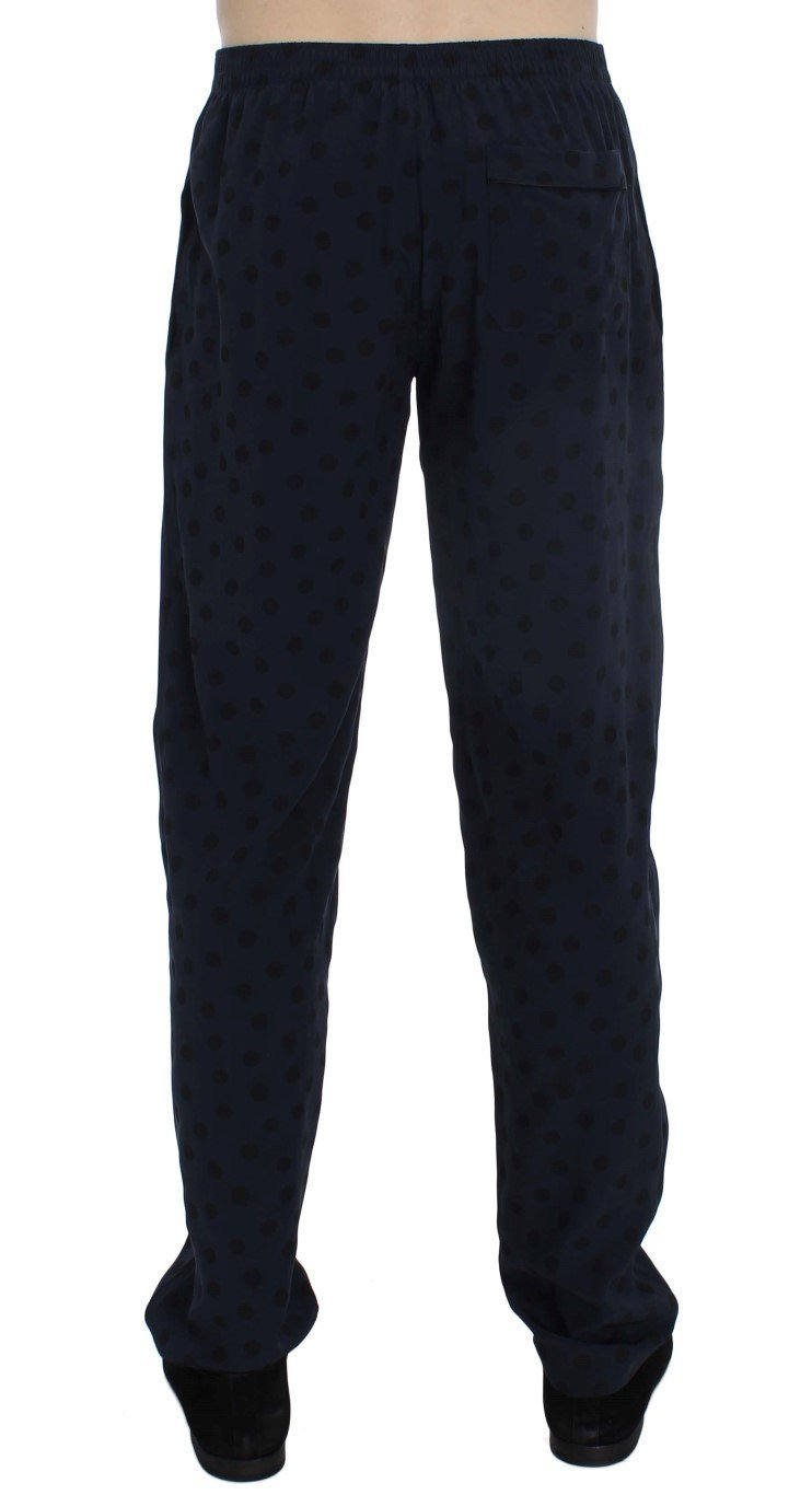 Blue SILK Pajama Lounge Pants