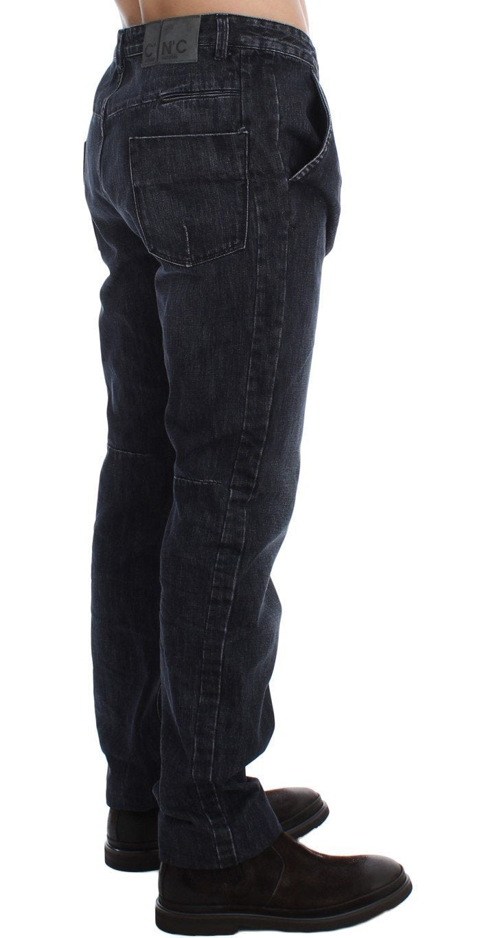 Blue Wash Regular Fit Cotton Jeans