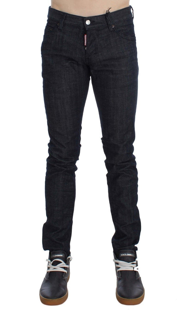 Dark Blue Cotton Stretch Denim Slim jeans
