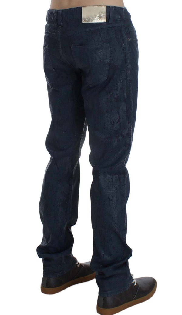 Blue Stretch Cotton Slim Fit Jeans