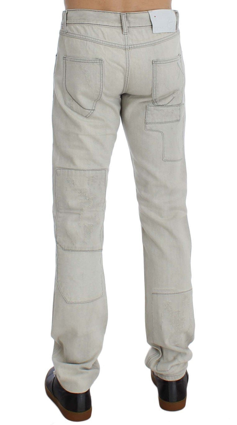 White Wash Cotton Regular Fit Jeans