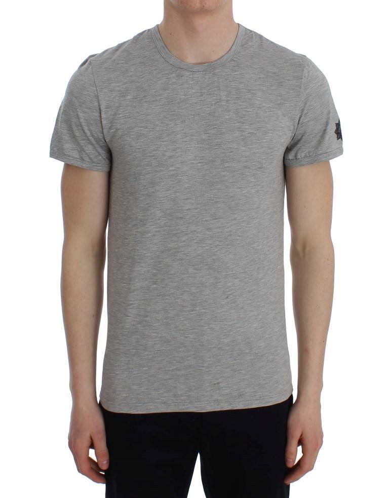 Gray Modal Stretch Crew-neck Underwear T-shirt