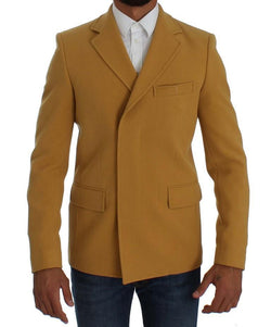 Yellow Three Button Blazer Jacket