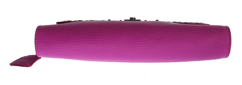 Pink Leather Studded Document Portfolio Briefcase Bag