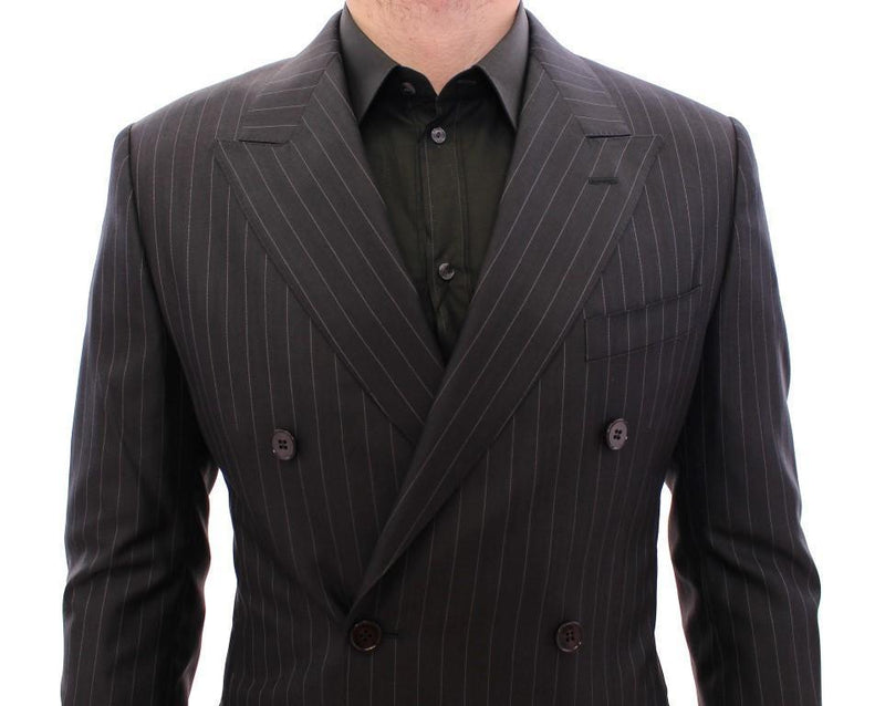 Black Striped Double Breasted SICILIA Suit