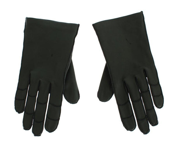 Green Leather Women's Gloves