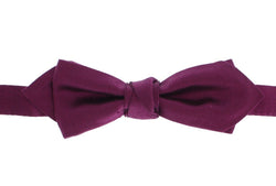 Purple Solid 100% Silk Neck Bow Tie