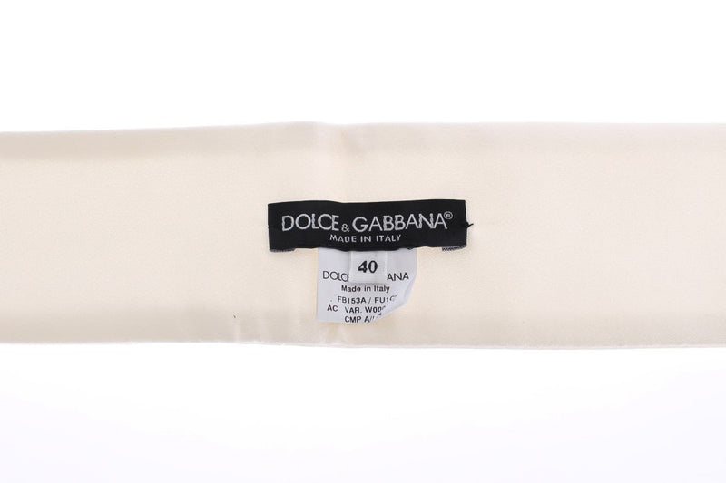 White Silk Wide Runway Catwalk Waist Belt
