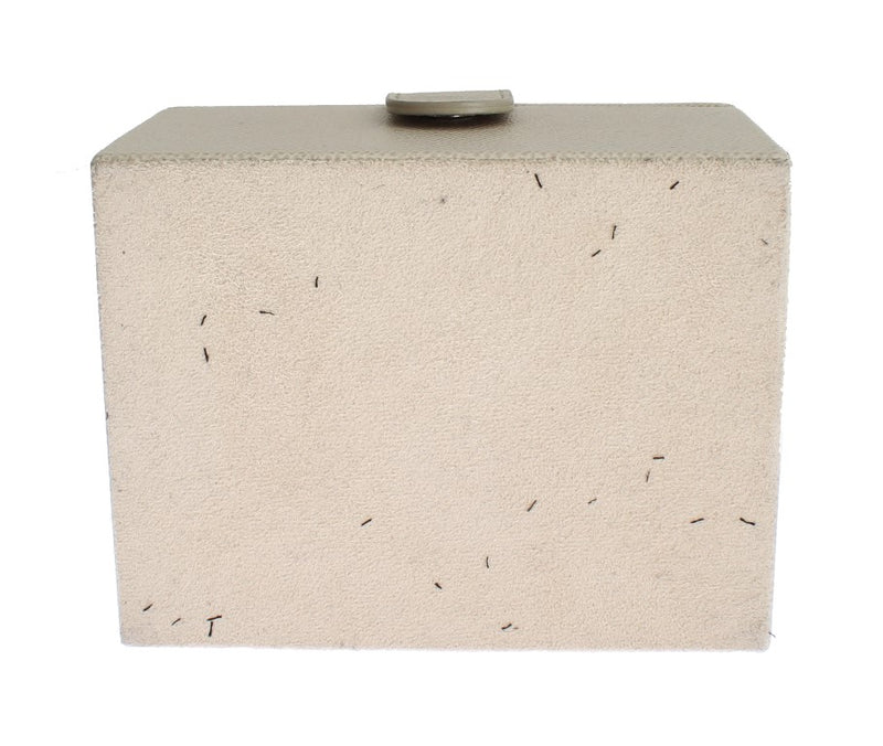White Leather Unisex Two Watch Case Cover Box Storage - Designer Clothes, Handbags, Shoes + from Dolce & Gabbana, Prada, Cavalli, & more