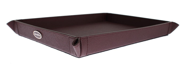 Bordeaux Leather Phone Tray, Catchall, Valet, Key, Wallet, Card, Tray, Plate