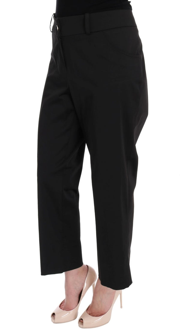 Black Wool Capri Dress Pants
