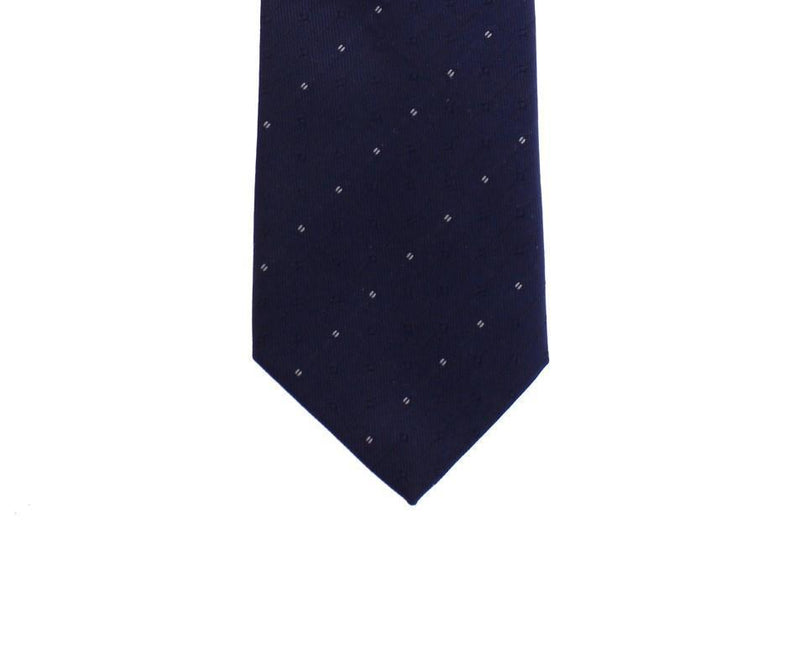 Blue Pattern Slim Neck Tie