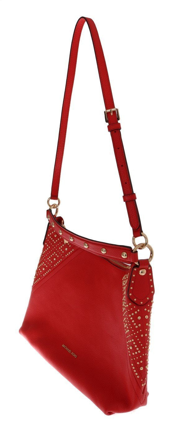 Red ARIA Leather Shoulder Bag