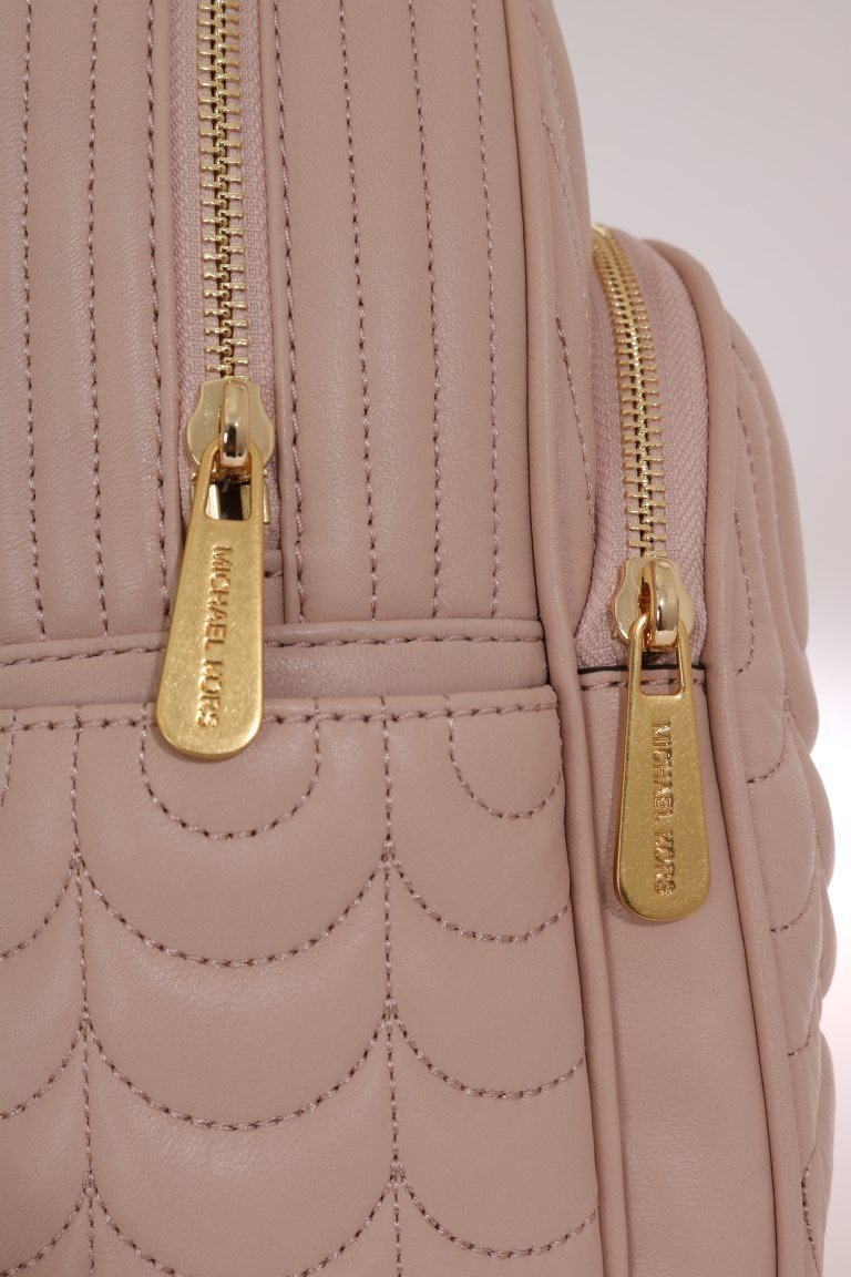 Beige ABBEY Leather Backpack