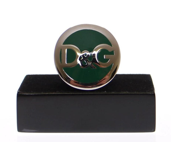 D&G Green Stone Steel Ring