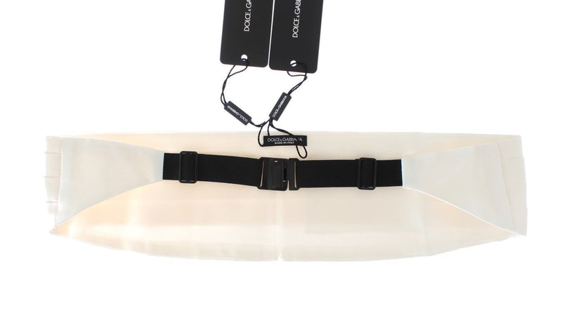 White Smoking Belt Silk Cummerbund