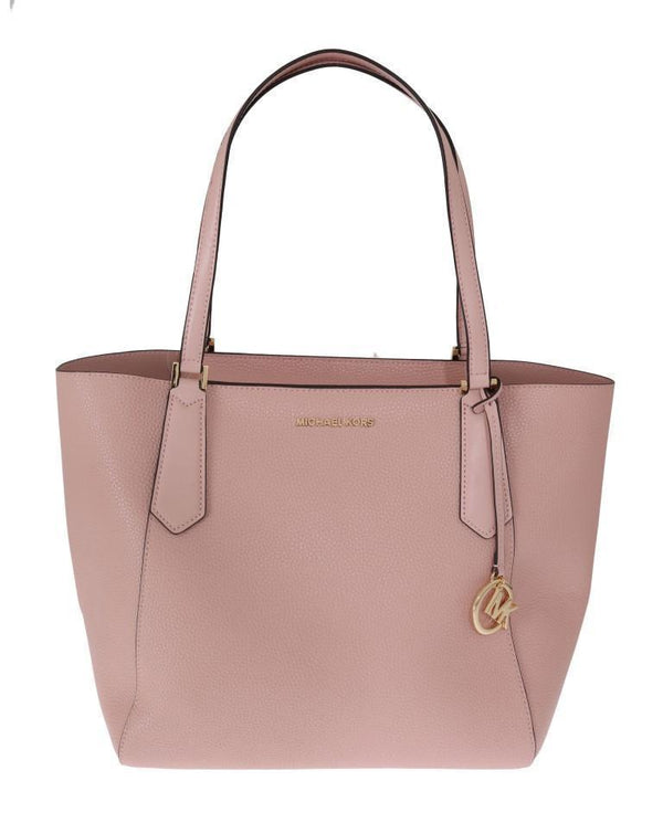 Pink KIMBERLY Leather Tote Bag