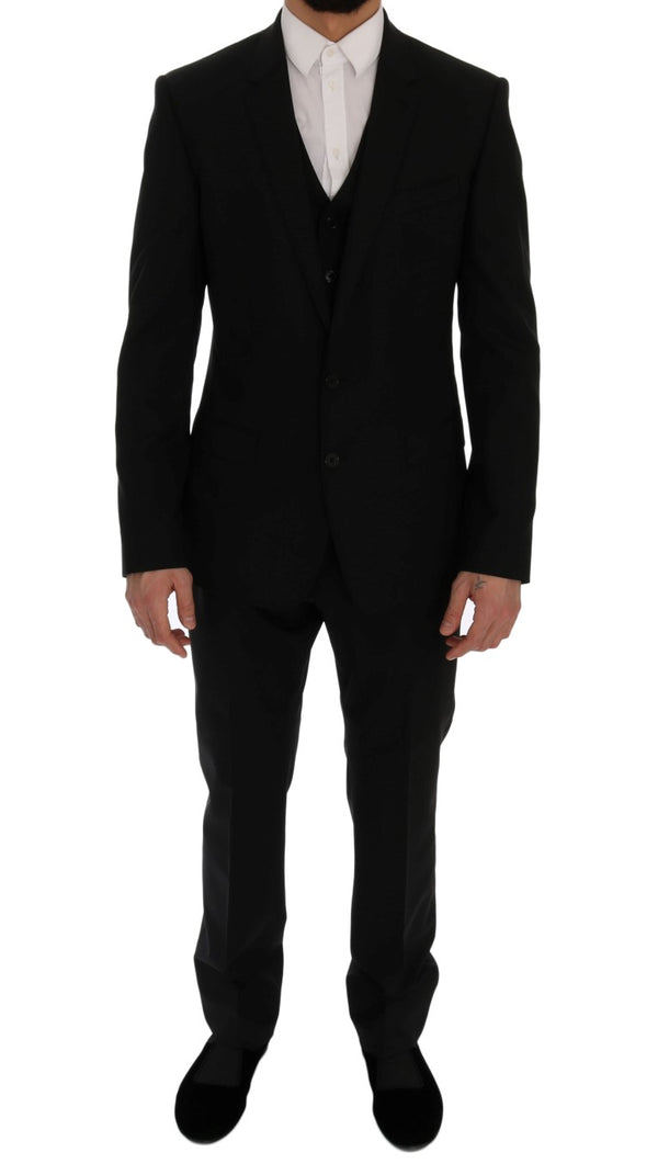 Black Wool Stretch MARTINI Slim Fit Suit