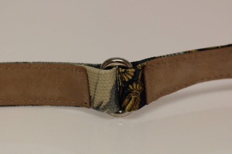 Multicolor Leather Printed Belt
