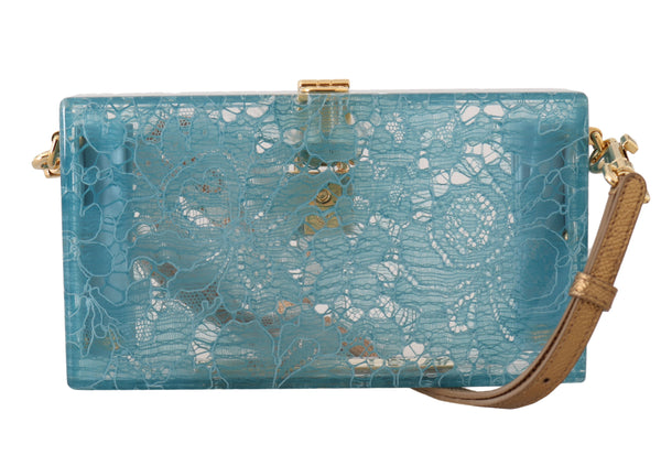 Blue SICILY Floral Lace Clutch Purse