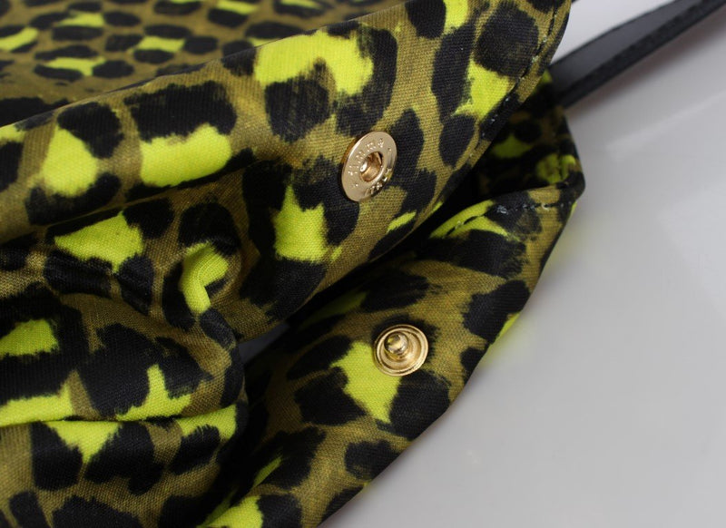 Yellow Black Leopard Hand Shopping Tote Bag