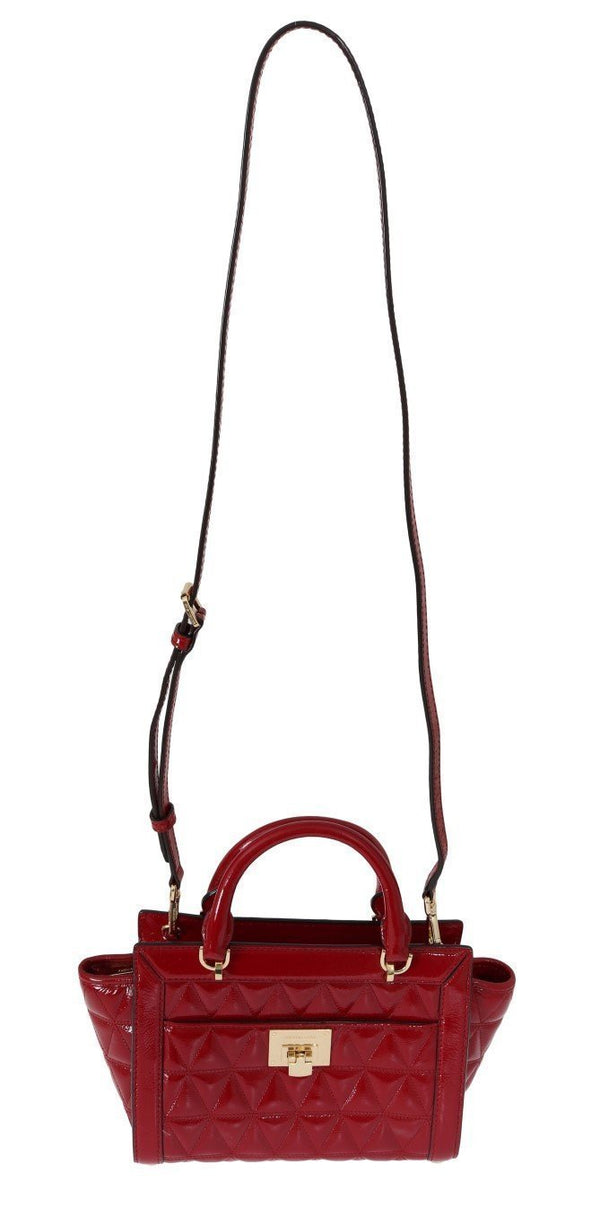 Red VIVIANNE Patent Messenger Bag
