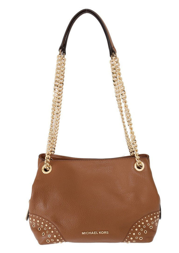 Brown Jet Set Leather Shoulder Bag