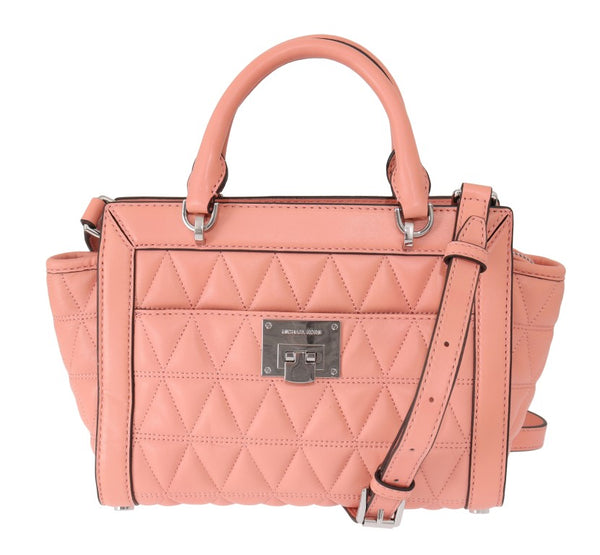 Pink VIVIANNE Leather Messenger Bag