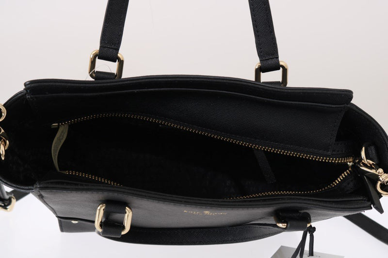 Black SMALL HANDLEE Leather Handbag