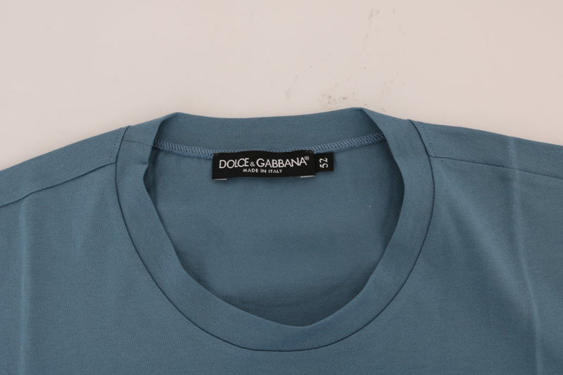 Blue Cotton 2017 Motive Print T-Shirt