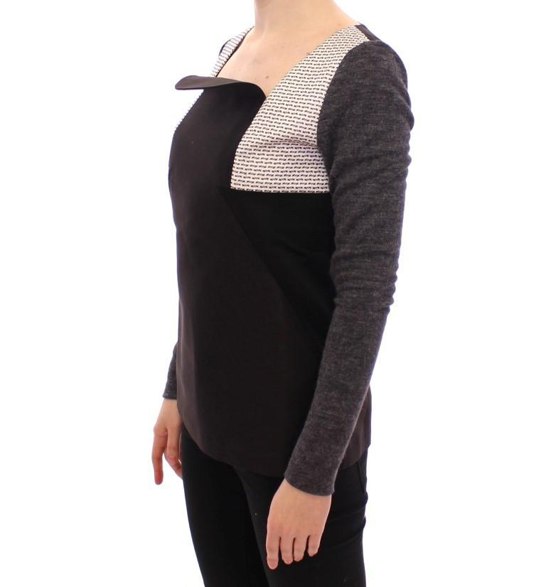 Black Gray Longsleeve Pullover Sweater