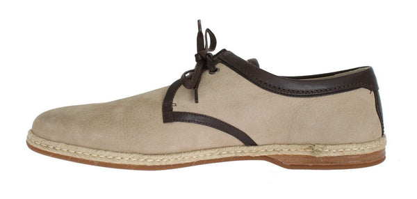 Beige Brown Leather Shoes