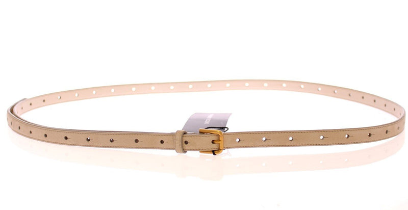 Beige Leather Suede Belt