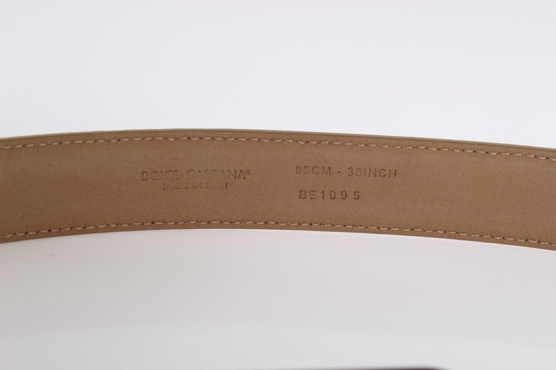 Multicolor Leather Gold Silver Belt