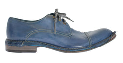 Blue Leather Dress Formal Shoes