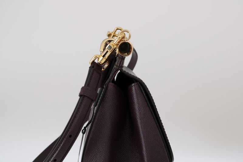 Purple SICILY Leather Dauphine Shoulder Bag