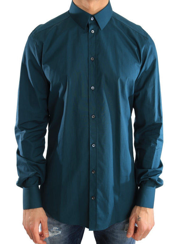 Blue Dress GOLD Slim Fit Cotton Shirt