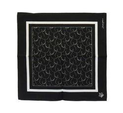 Black Cotton Crown Print Scarf