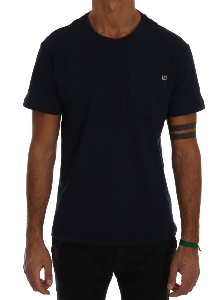 Blue Cotton Crewneck T-Shirt