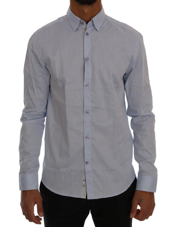 Blue Casual Cotton Regular Fit Shirt