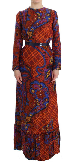 Multicolor Long Sleeved Floral Dress