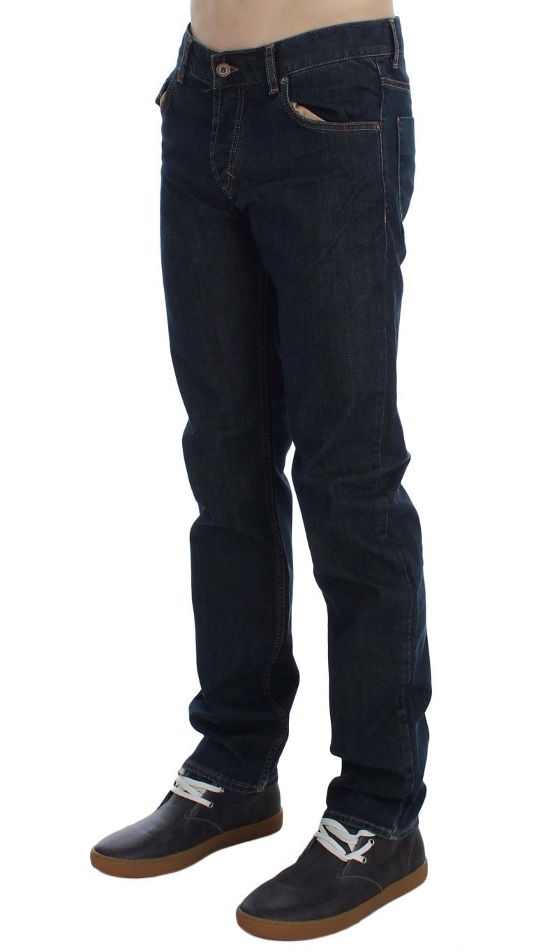 Blue Cotton Stretch Regular Fit jeans