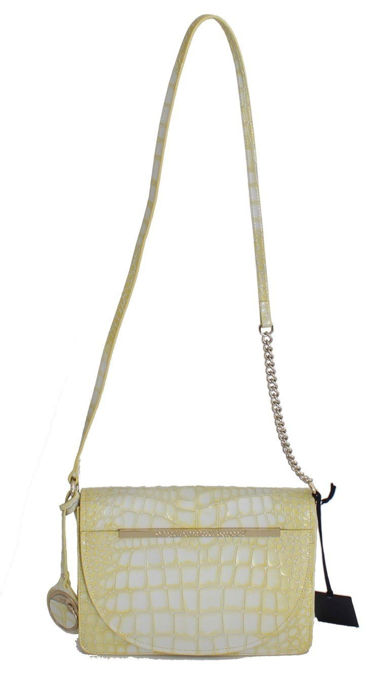 Yellow Leather Hand Shoulder Messenger Bag