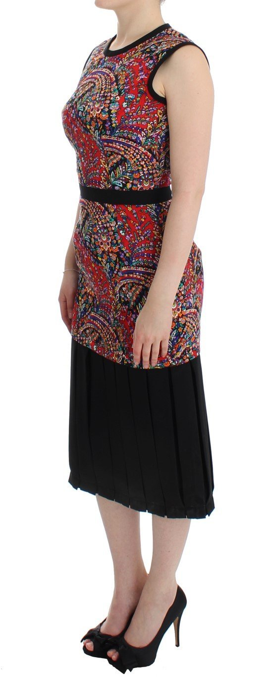 Multicolor Sleeveless Floral Dress