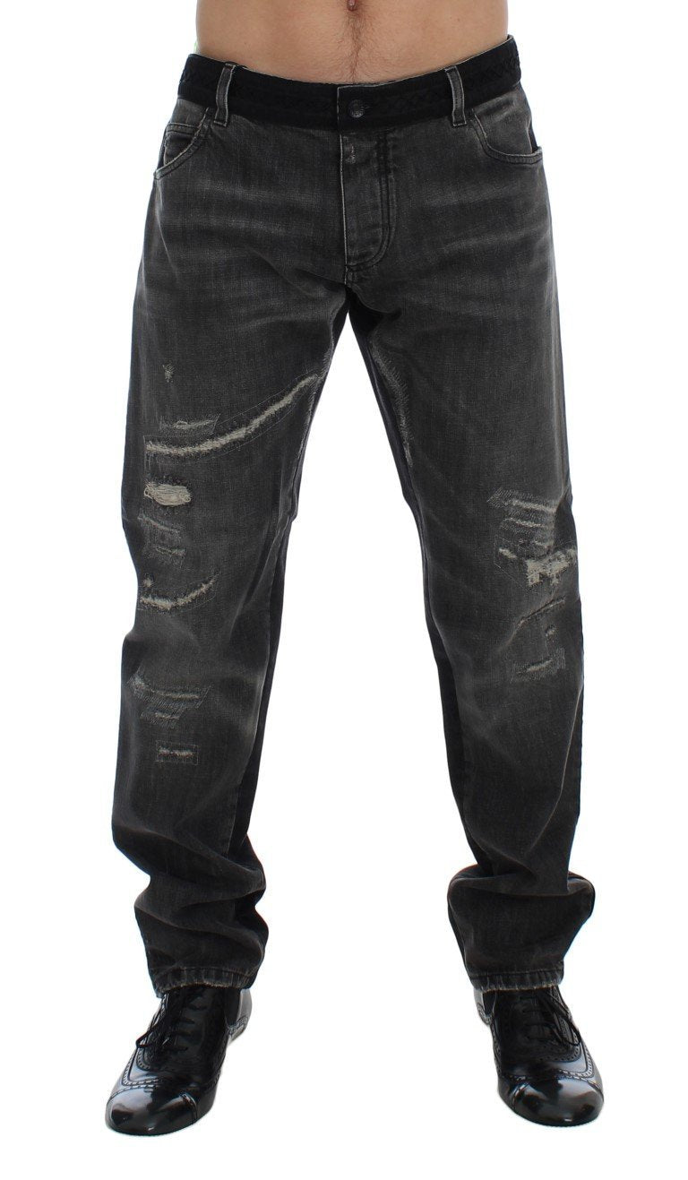 Gray Black Wash 14 GOLD Slim Fit Pants Jeans