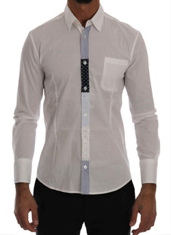 White Cotton Stretch Slim Fit Shirt