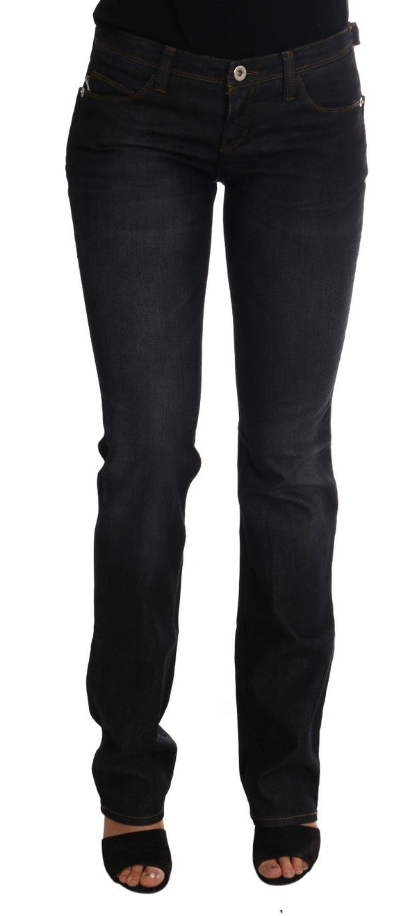Dark Blue Cotton Slim Fit Jeans