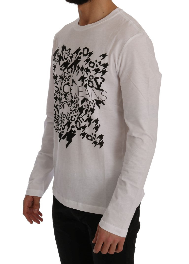 White Motive Cotton Sweater
