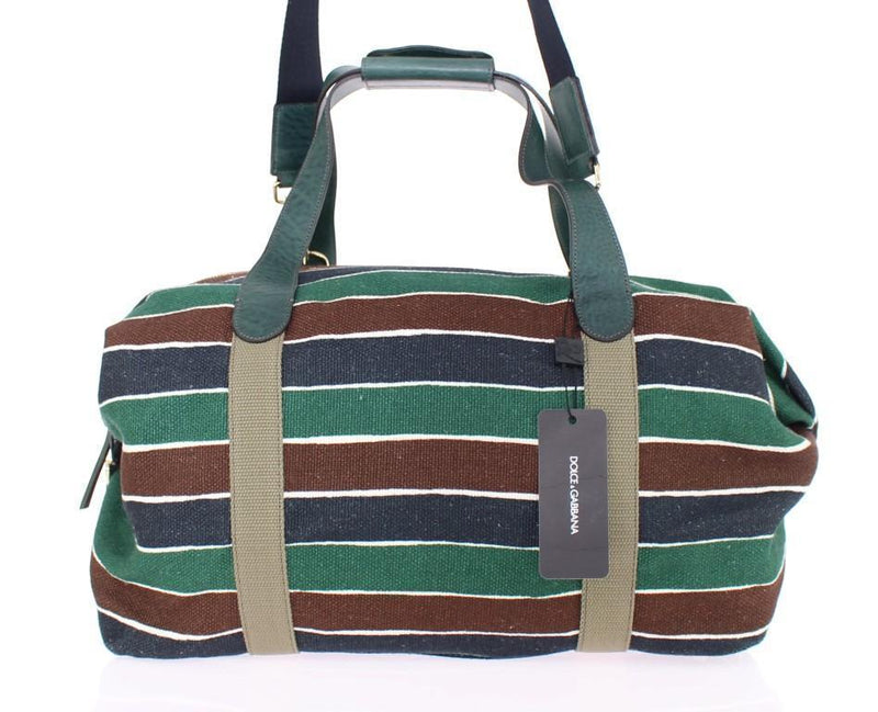 Multicolor striped travel bag
