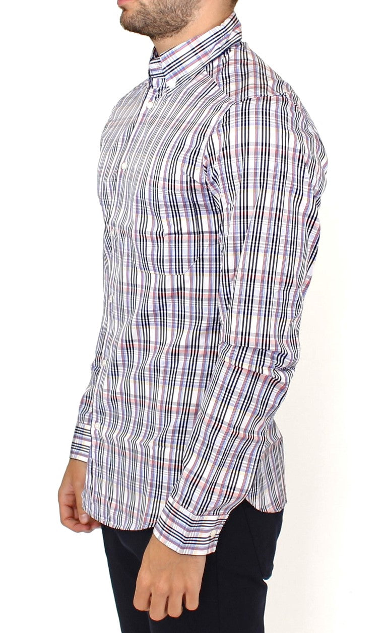 Multicolored checkered cotton shirt